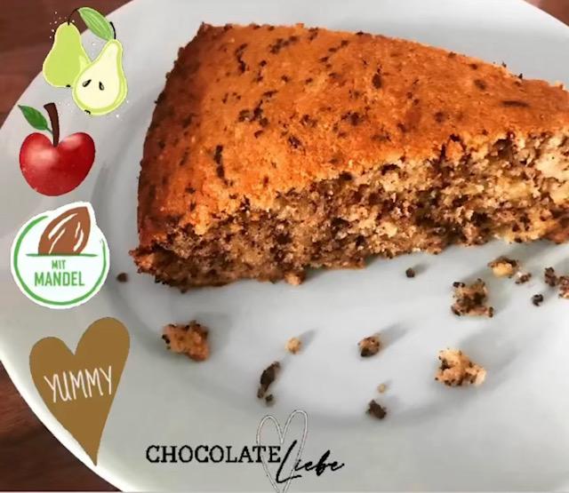 Birnen-Apfel-Mandel Kuchen